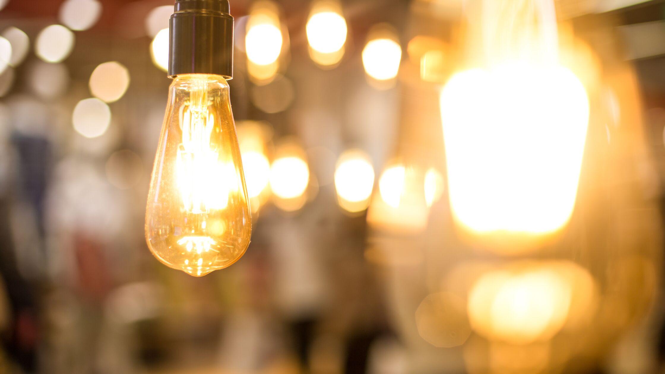 Glühbirnen angeschaltet