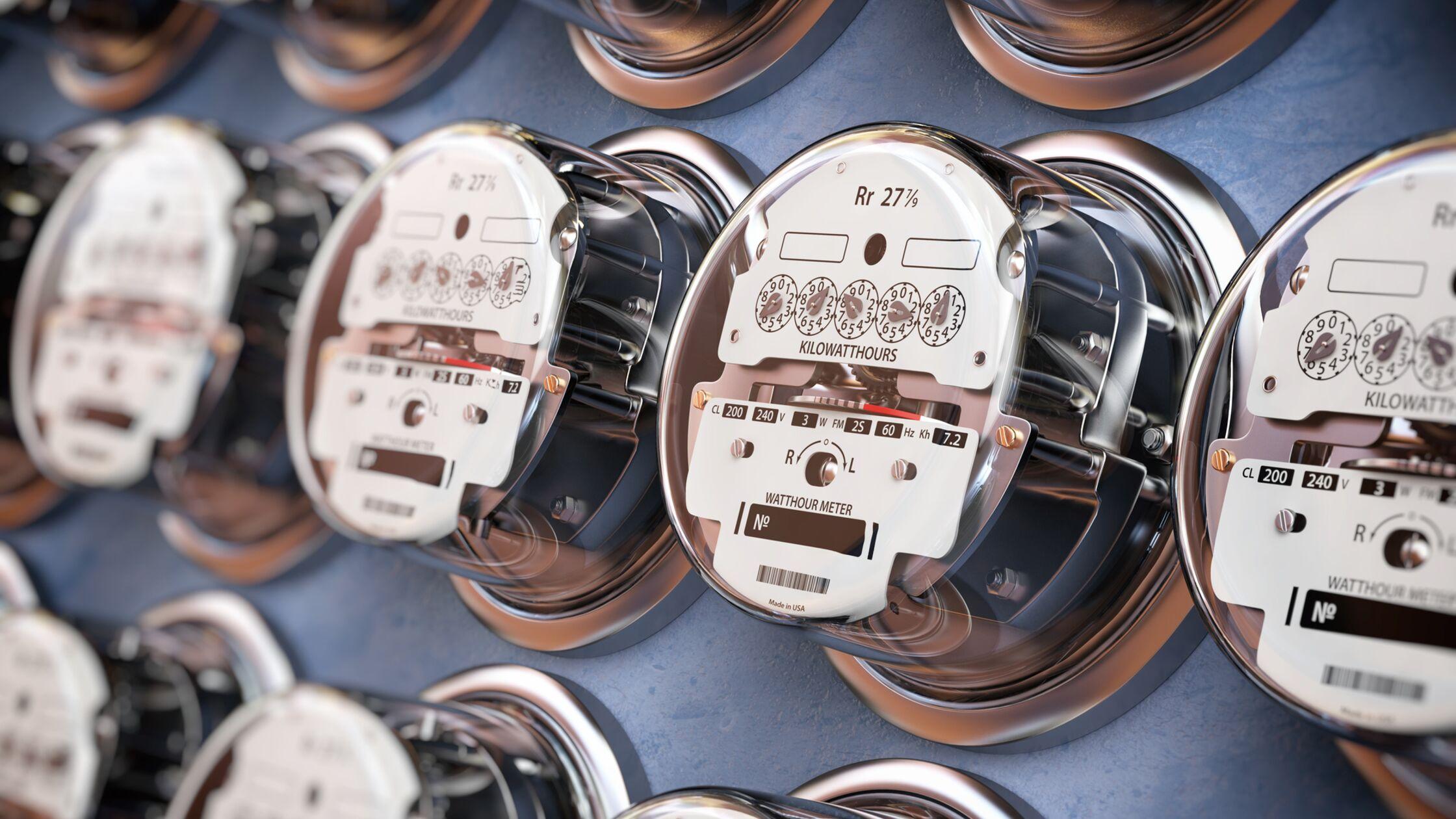 mehrere Stromzähler
