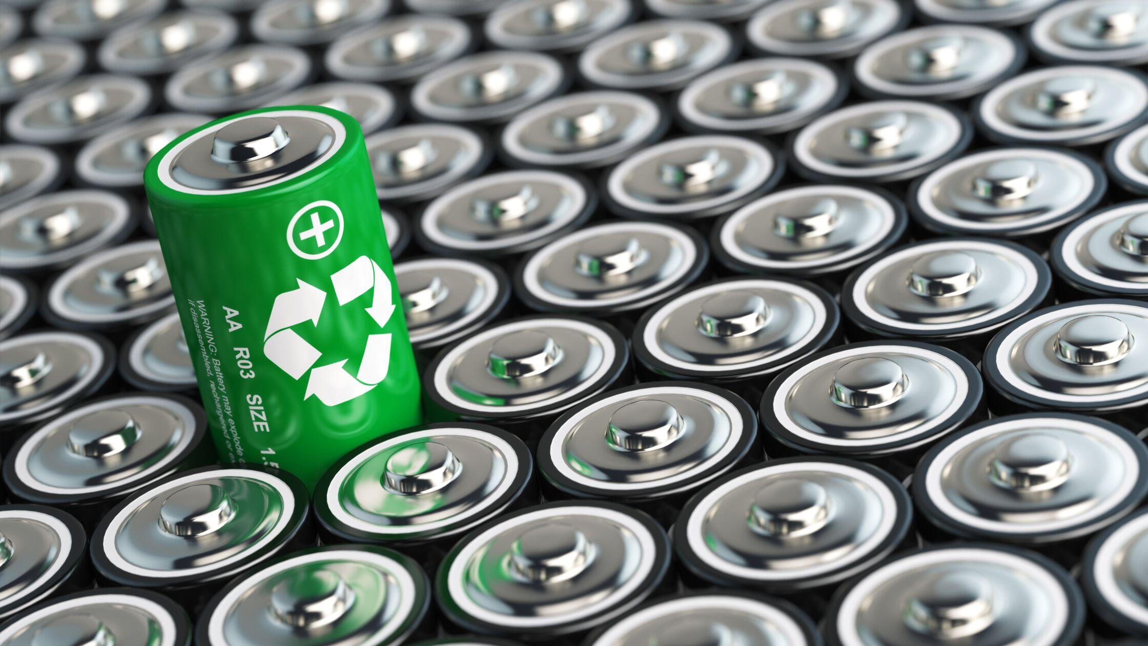 Batterien in Großaufnahme