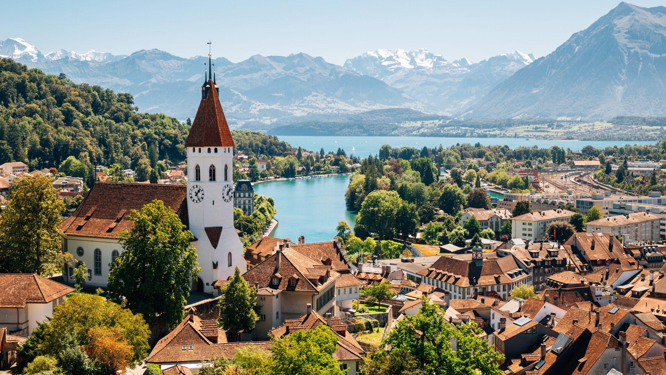 Idyllische Kleinstadt in der Schweiz