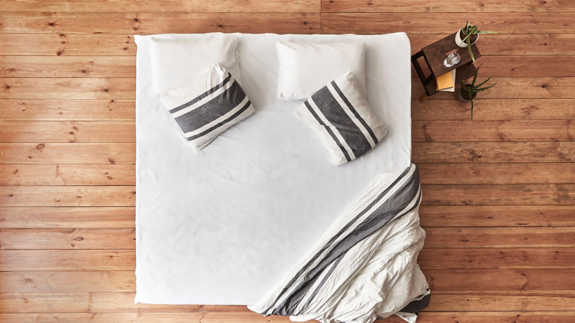 Matratze auf dem Boden