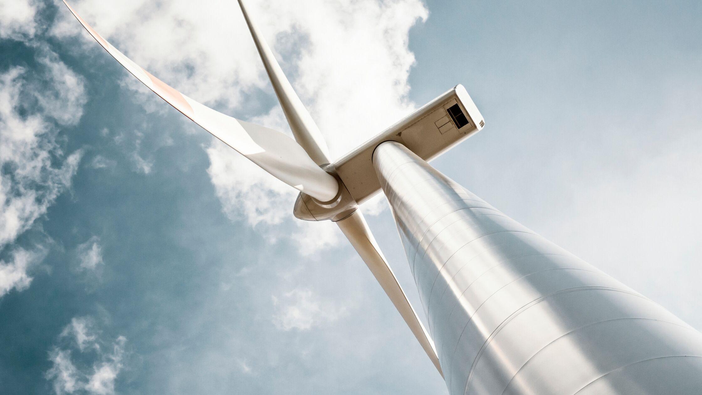 Windrad macht Energie