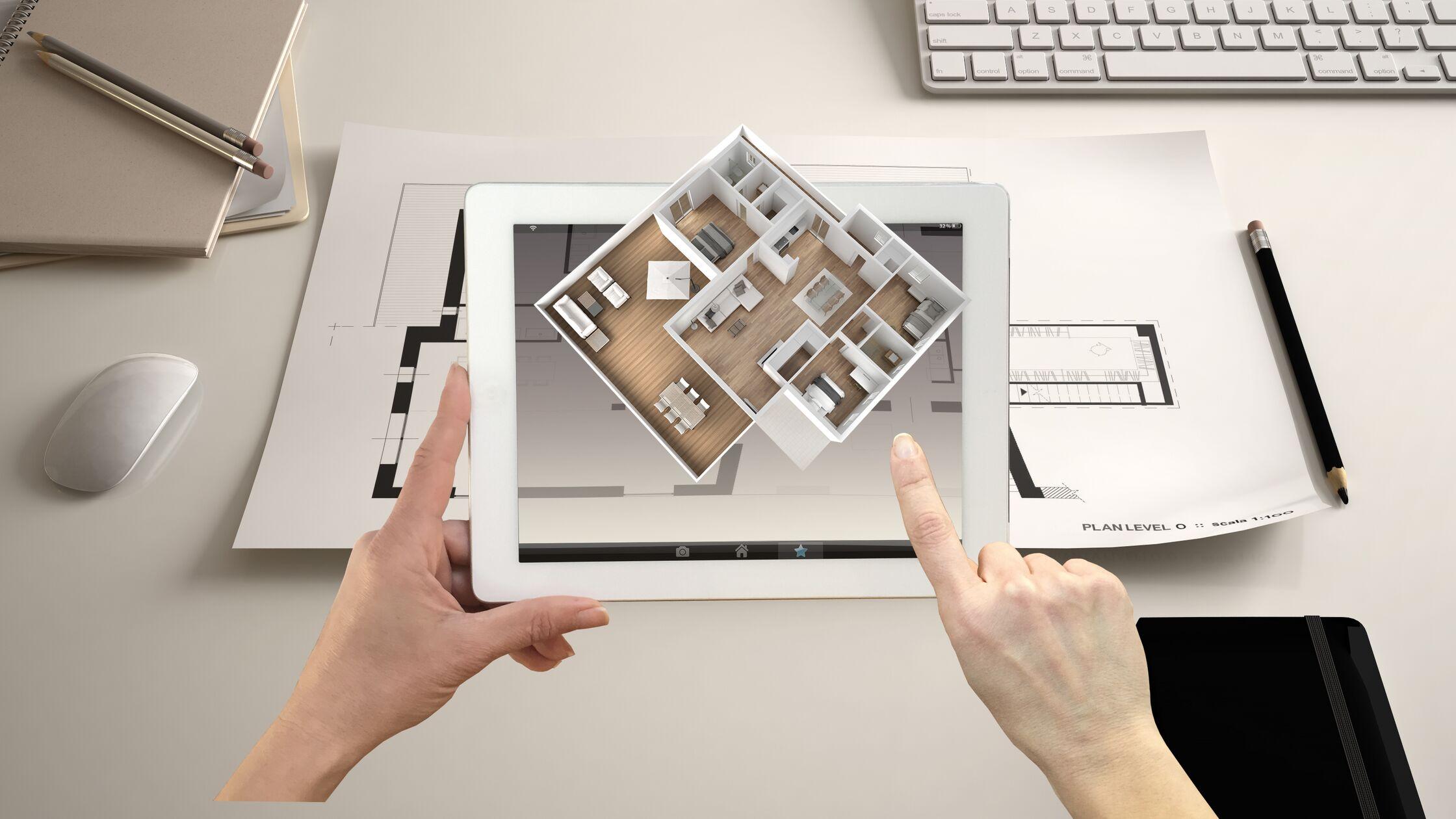 Wohnung einrichten am iPad