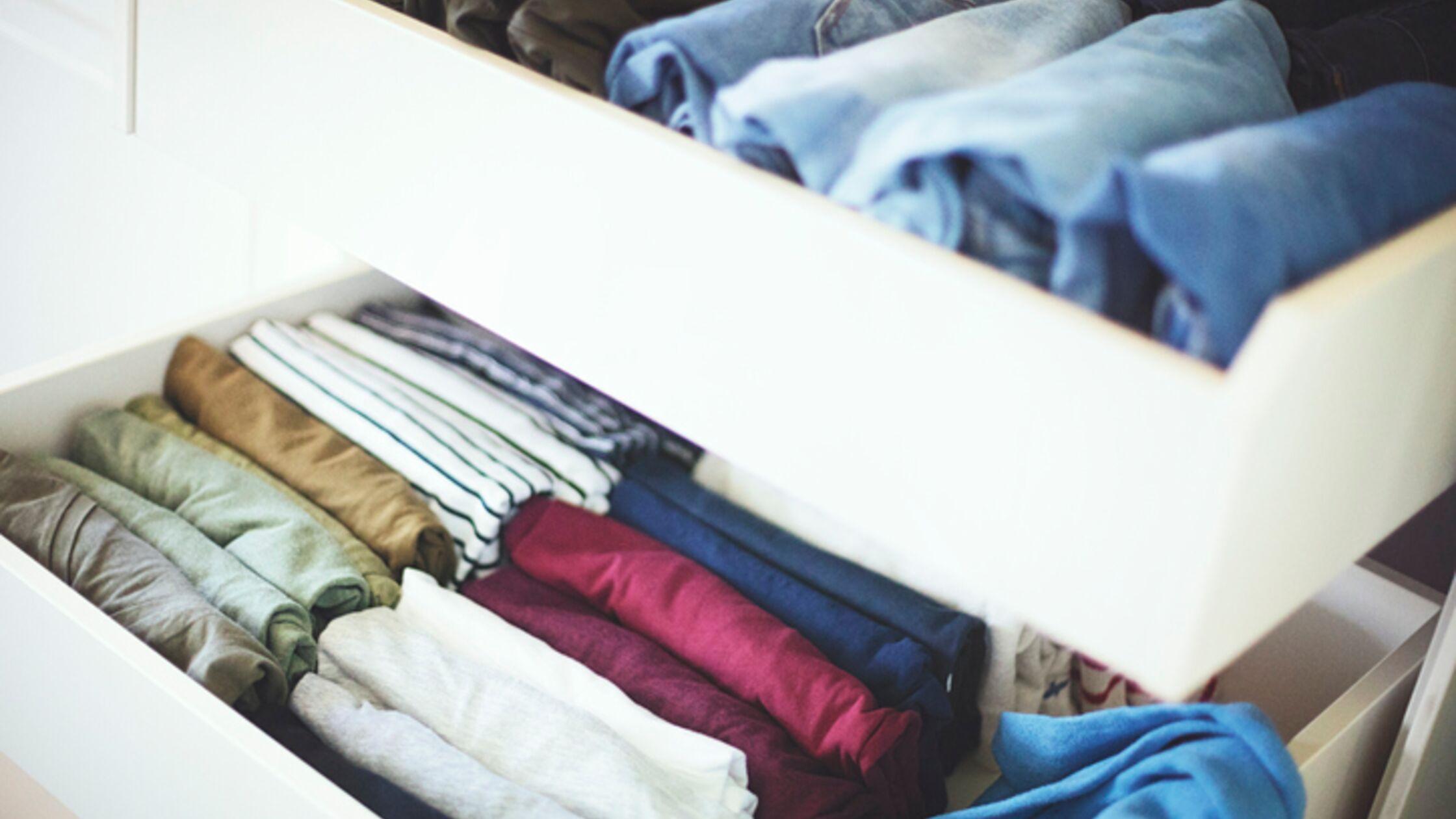 Wäsche in der Schublade