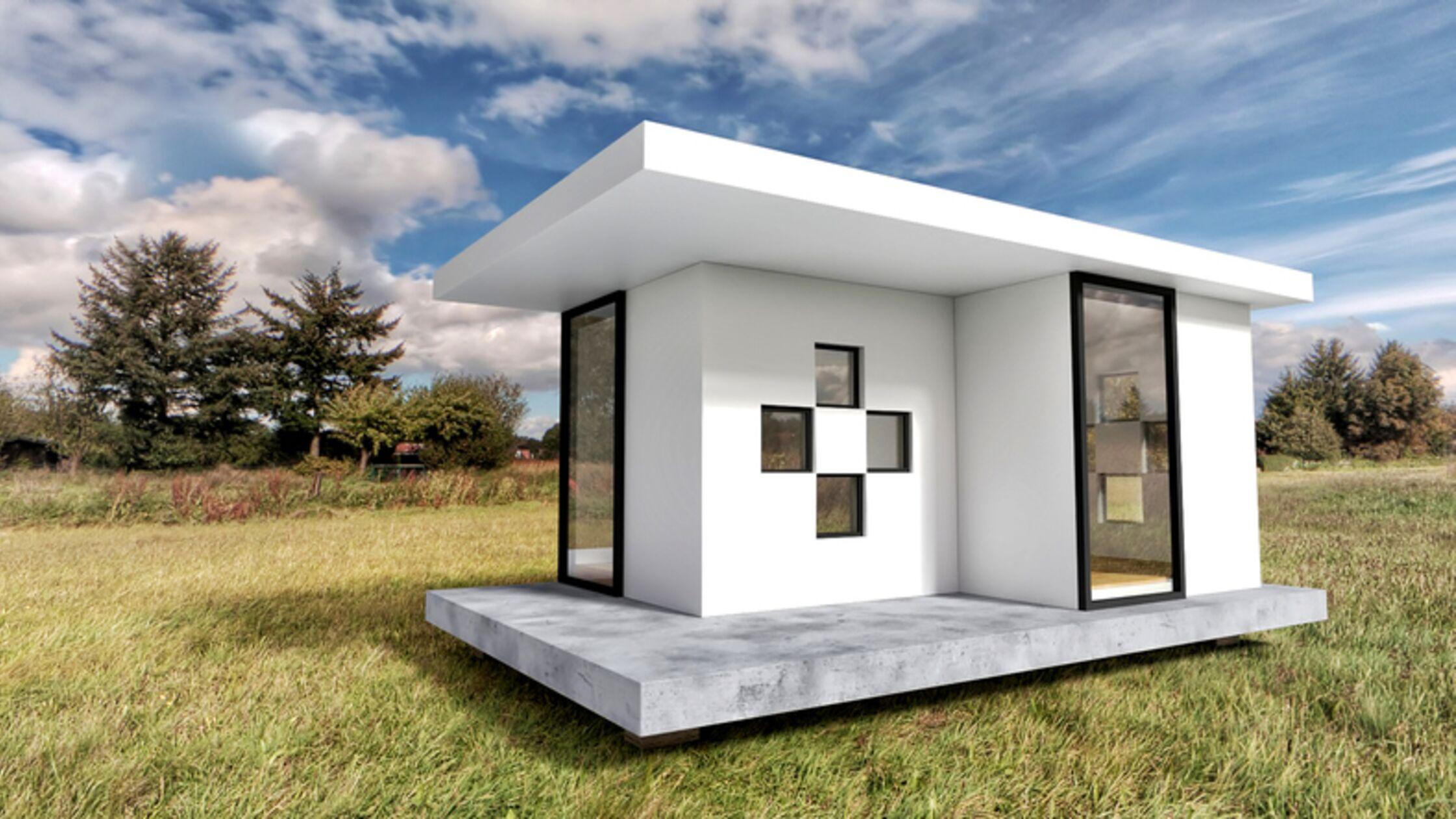 Weißes Tiny House