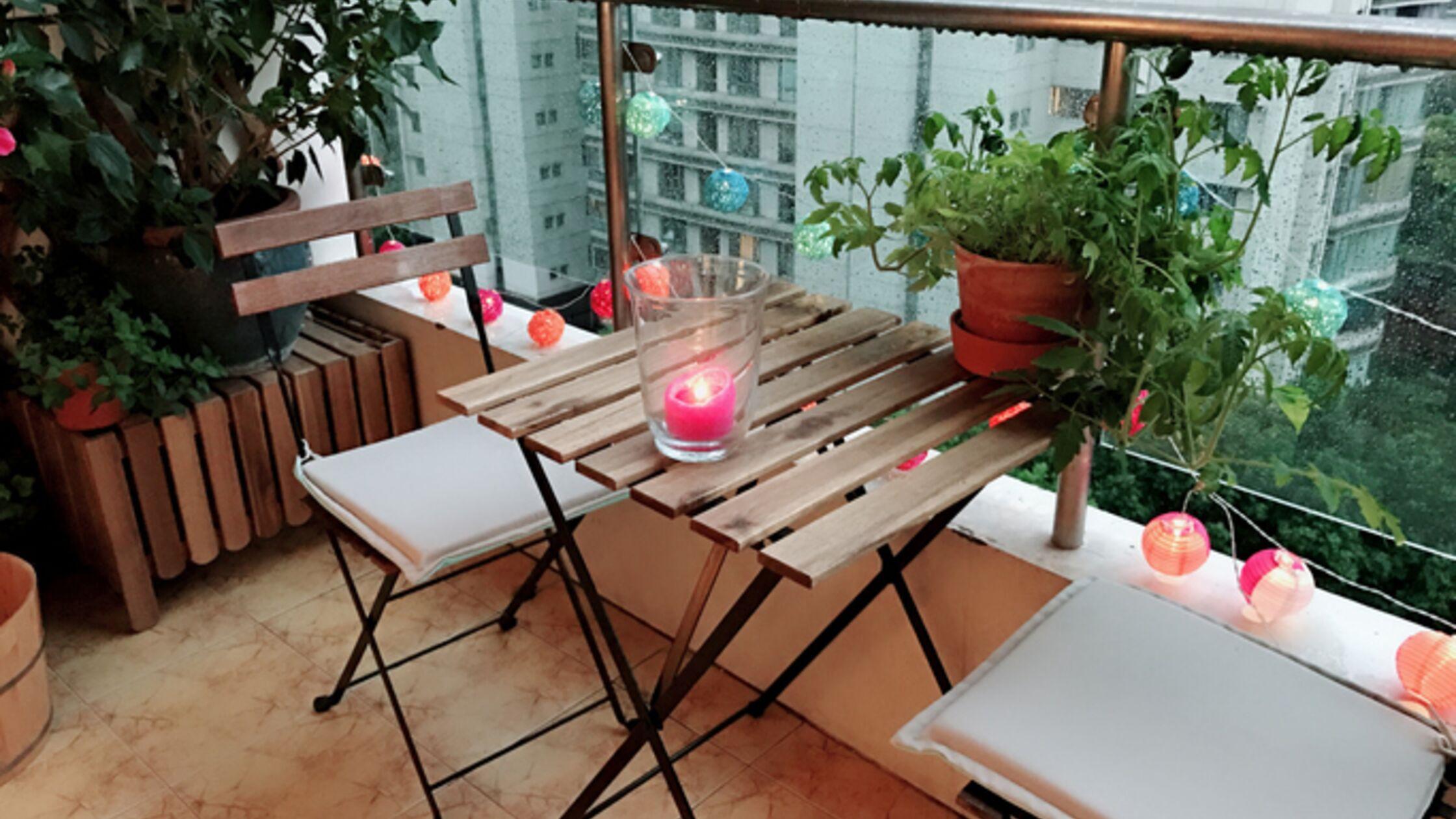 Balkon verschönern: 6 günstige Tipps für die grüne Mini-Oase