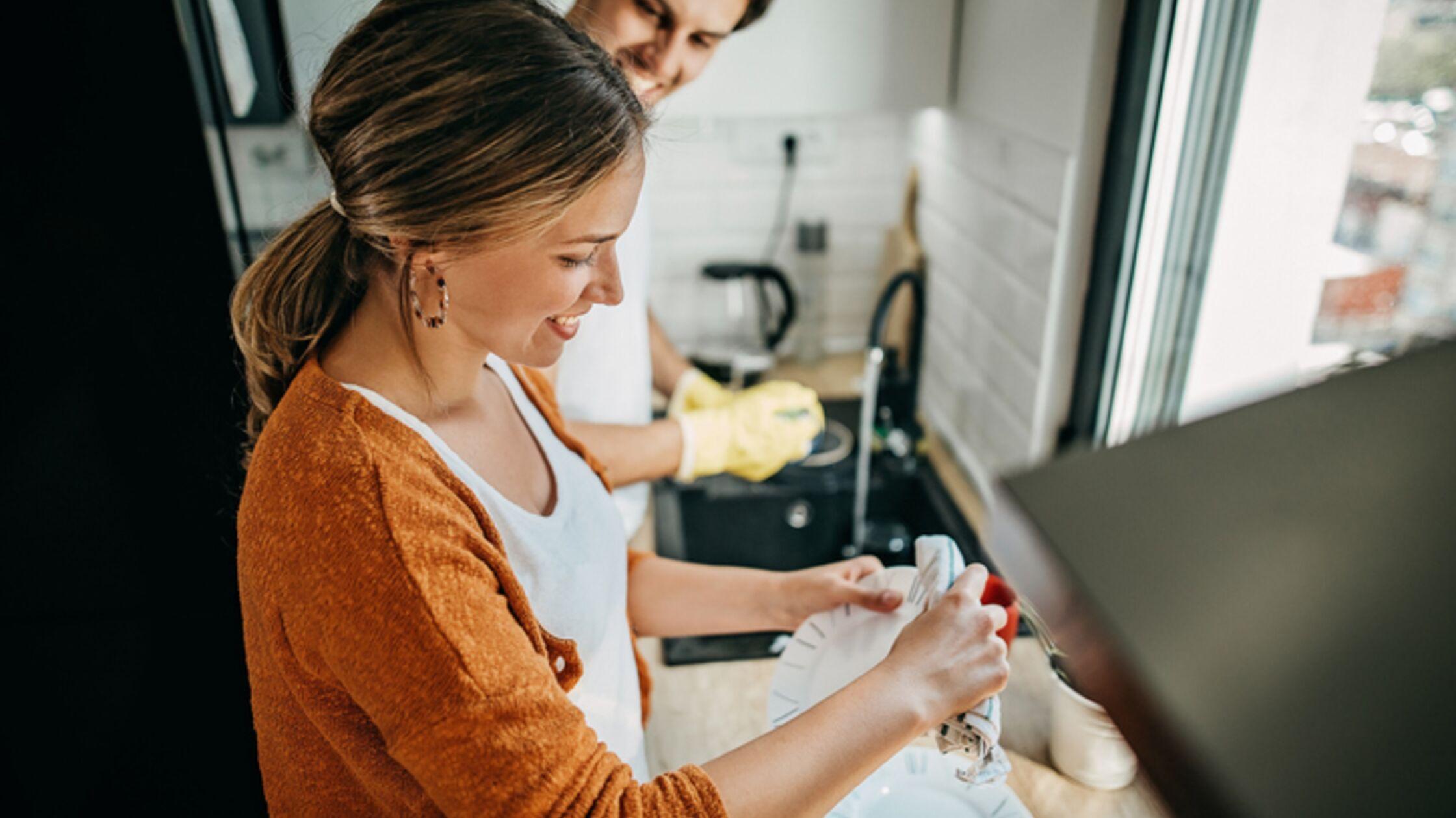 Abwasch in der Küche