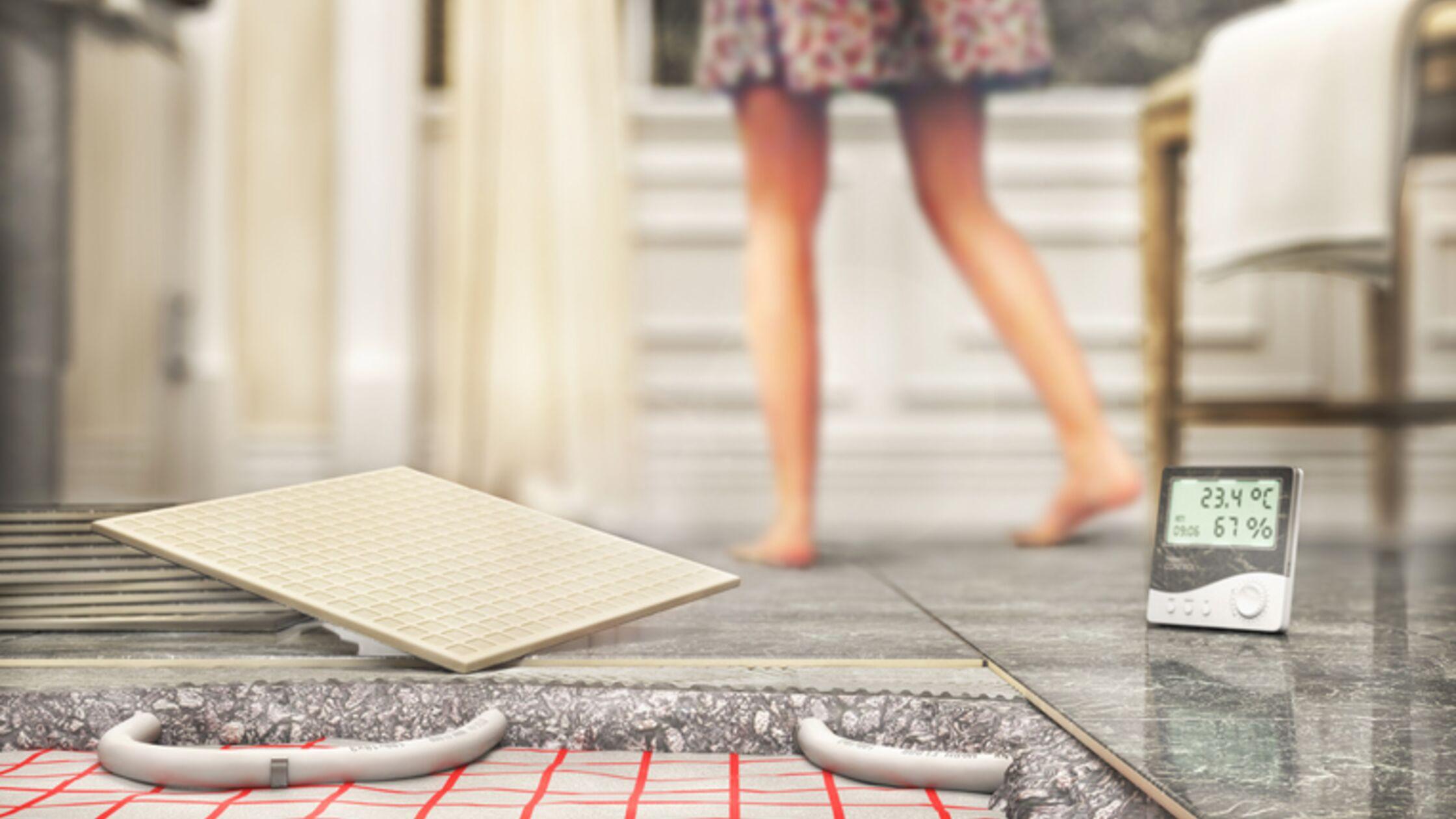 Fliesen mit Fußbodenheizung