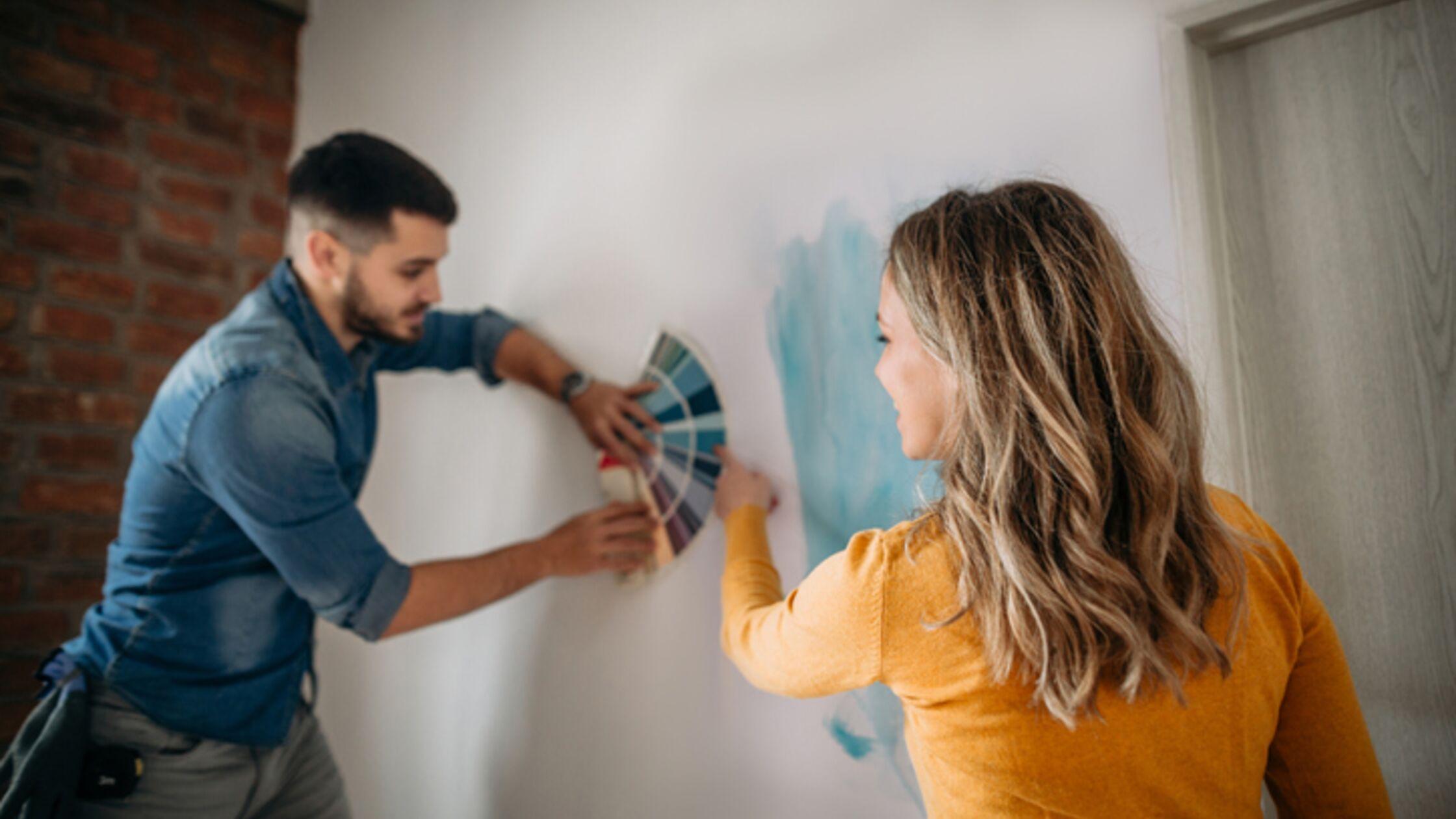 Wandgestaltung mit Farbe