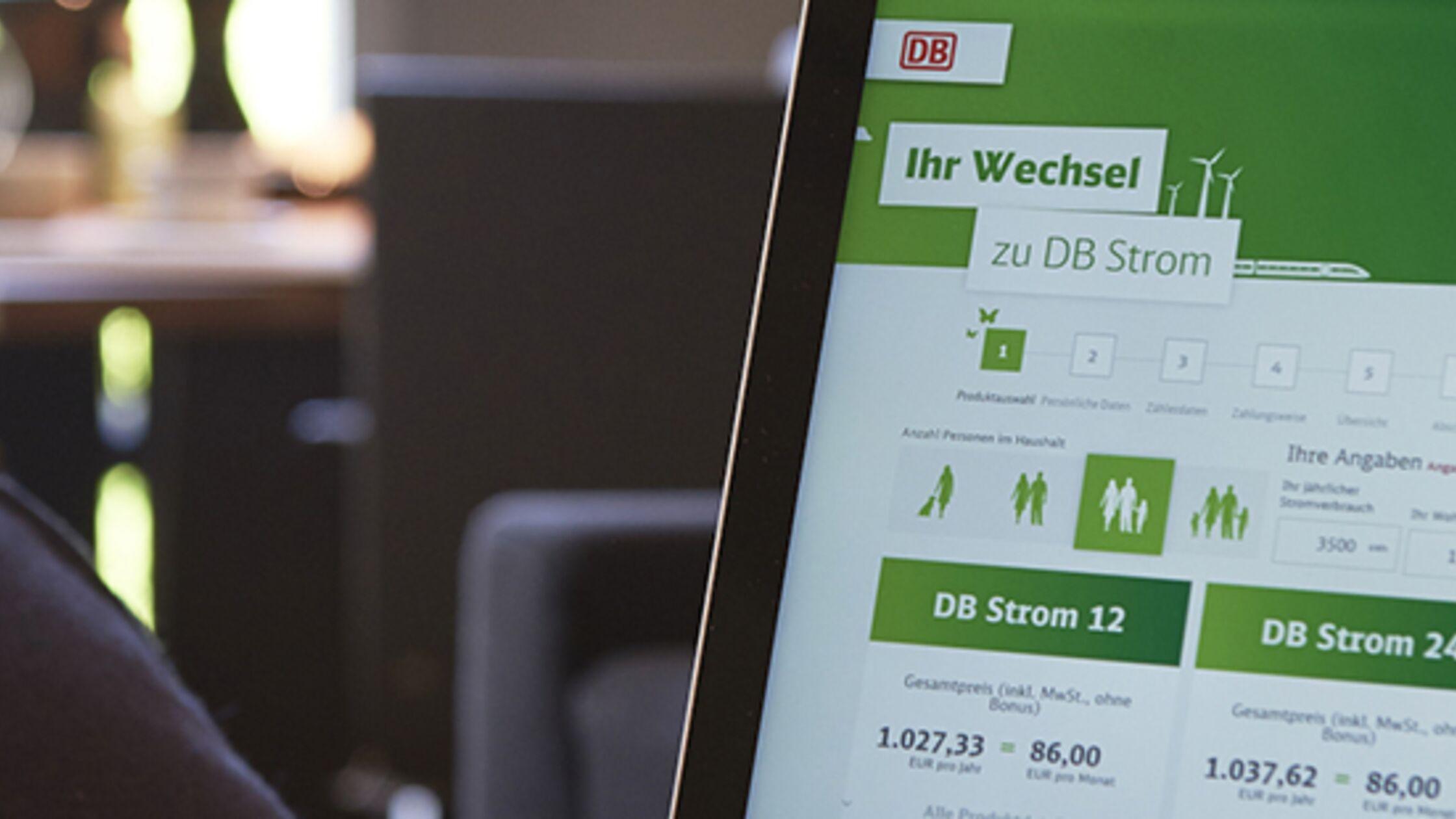 Anzeigetafel von DB Energie
