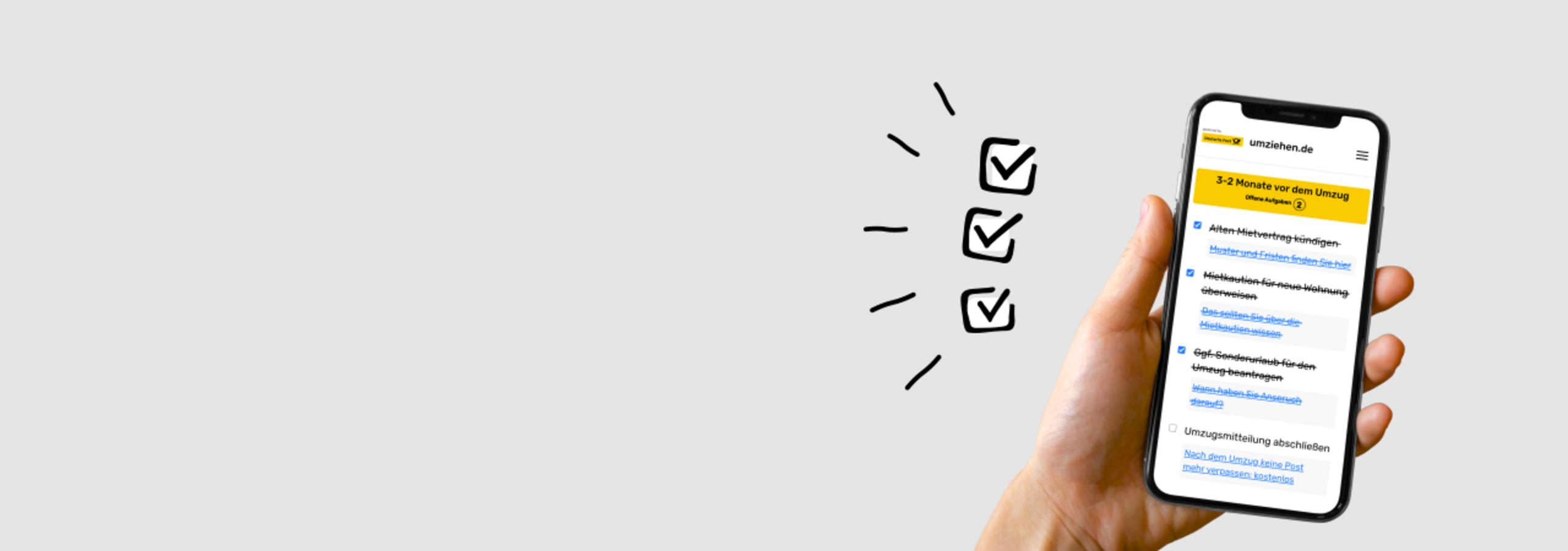 Checkliste auf Smartphone-Display