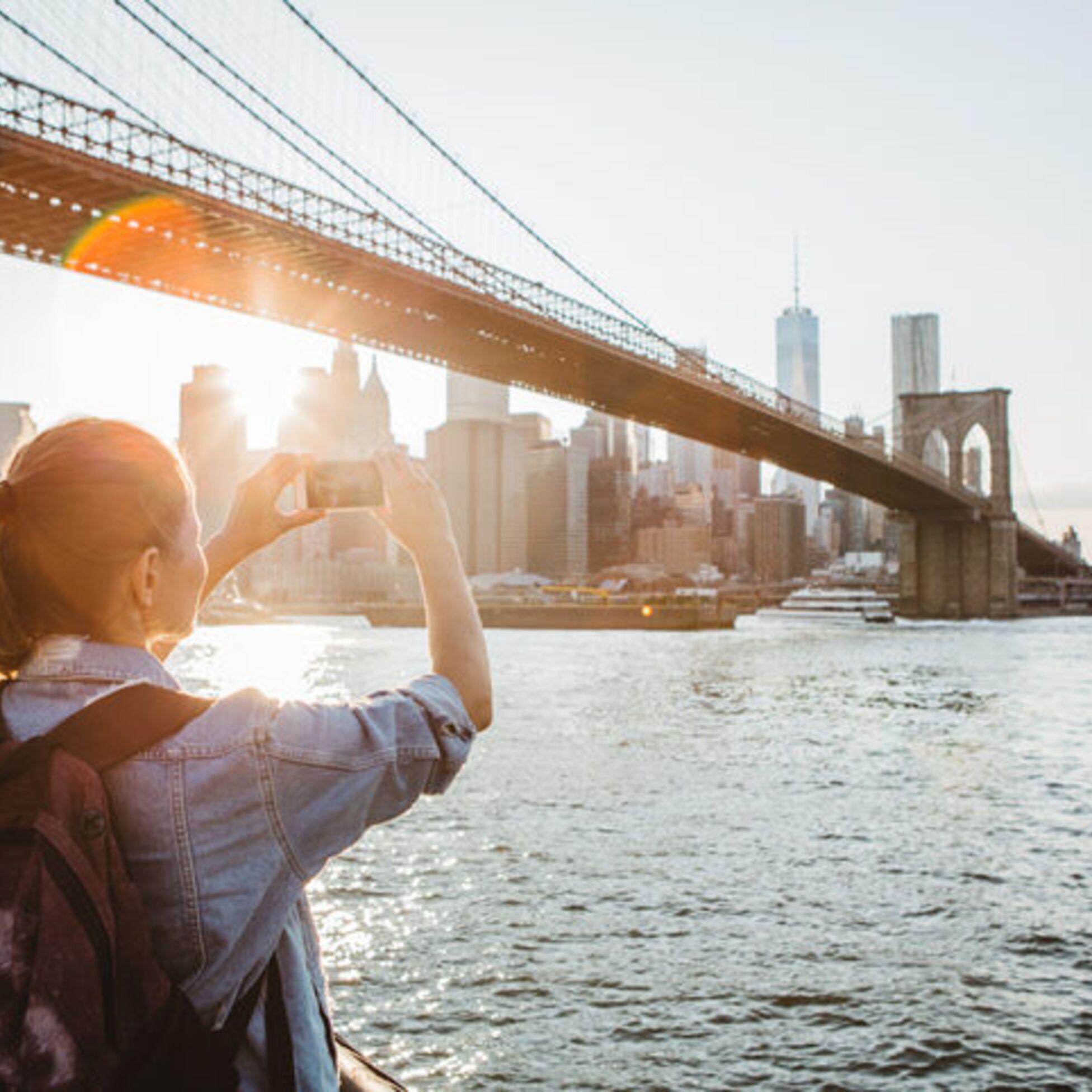 Touristin in New York