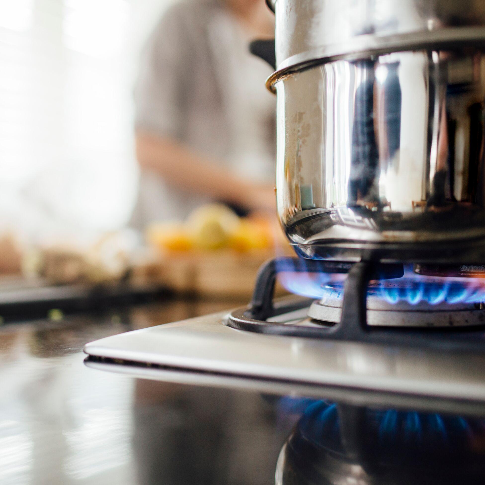 Kochen mit Gasherd