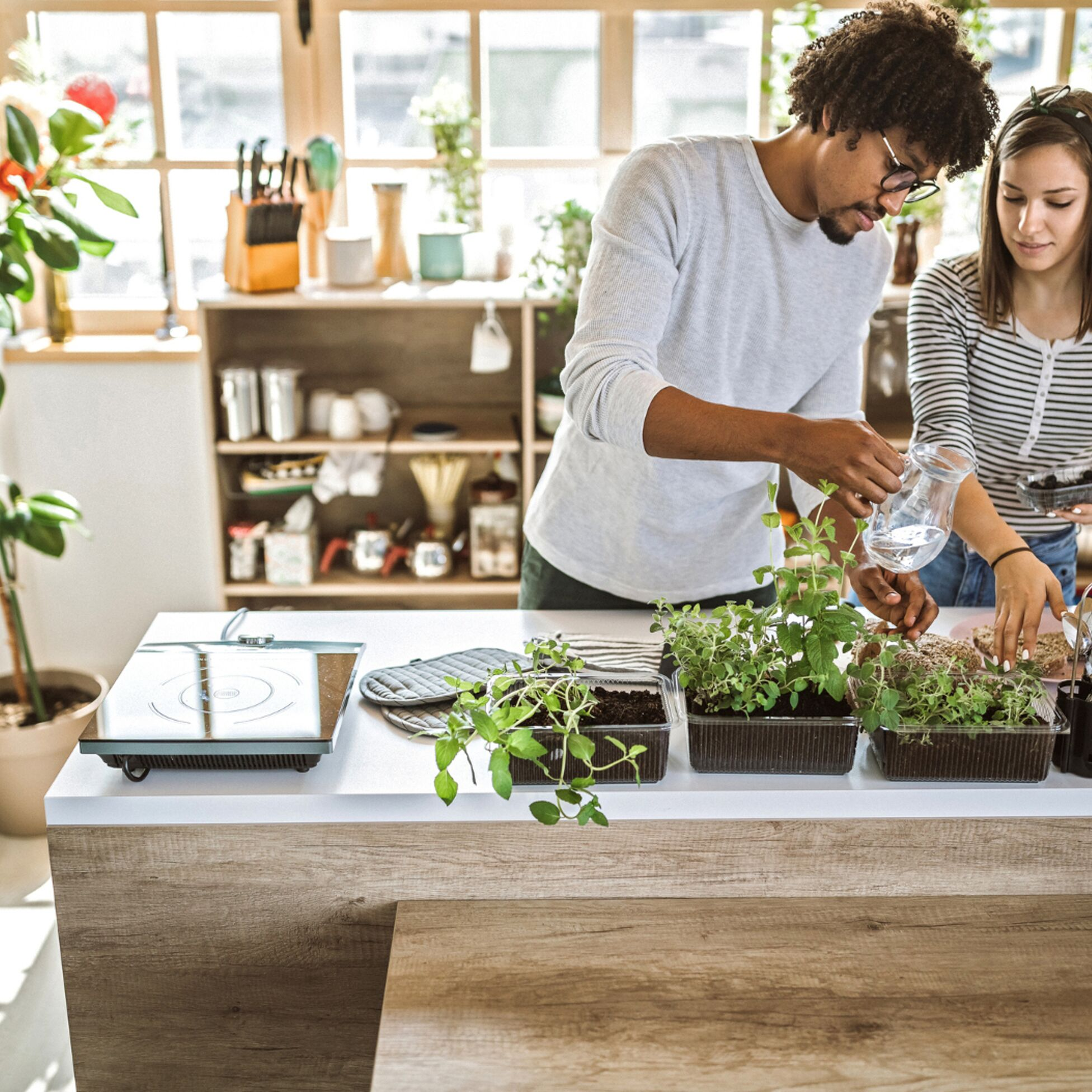 Paar sorgt für nachhaltige Einrichtung
